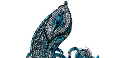 Blue Fruit, belonging to the second collection by Karmele Jewelry Design