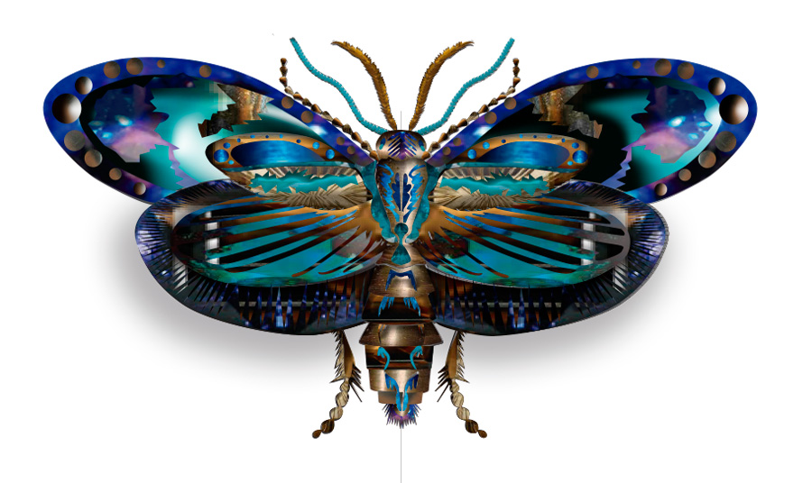 Butterfly jewel, belonging to the fifth collection of Karmele Jewelry Design