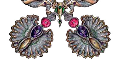 Medallions, belonging to the first collection by Karmele Jewelry Design